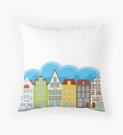 Small houses Throw Pillow