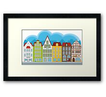 Small houses Framed Print