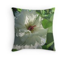 Peony hiding out as a Rose Throw Pillow