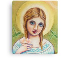 Angel with a Dogwood Flower Canvas Print