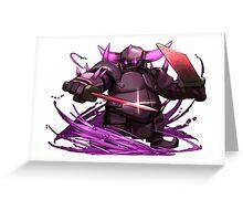 PEKKA Clash of Clans Art Greeting Card