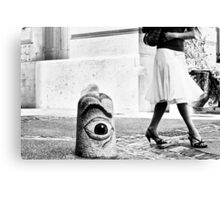 Street is watching... Canvas Print