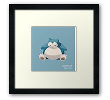 Snorlax Low Poly Framed Print