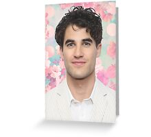 Darren Criss Flower Greeting Card
