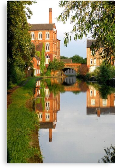 Evening View on the Canal. by Allan McKean