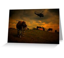 Apocalypse Cows Greeting Card