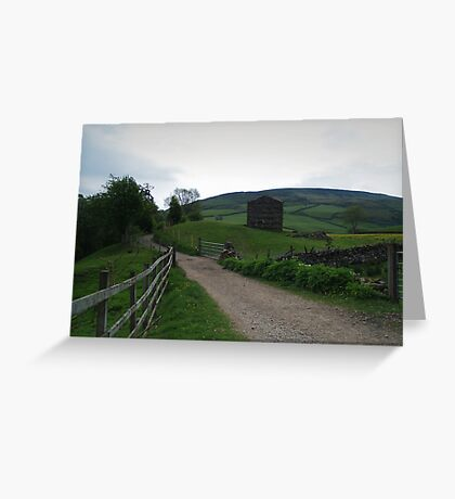 Footpath to Muker Greeting Card
