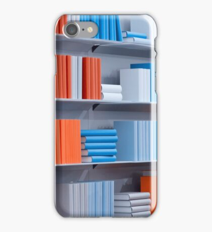 Bookshelves with the various books iPhone Case/Skin