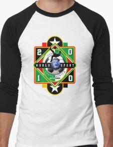 world soccer cup 2010 Men's Baseball ¾ T-Shirt