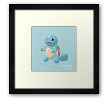 Squirtle Low Poly Framed Print