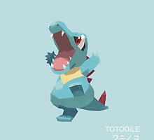 Totodile Low Poly by meowzilla