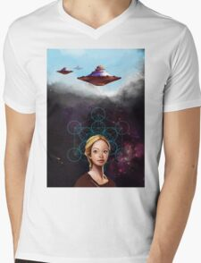Pleiades Mens V-Neck T-Shirt