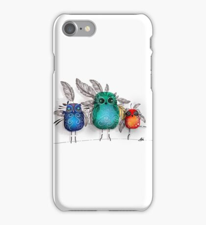 owl feathers iPhone Case/Skin