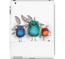owl feathers iPad Case/Skin