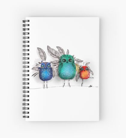 owl feathers Spiral Notebook