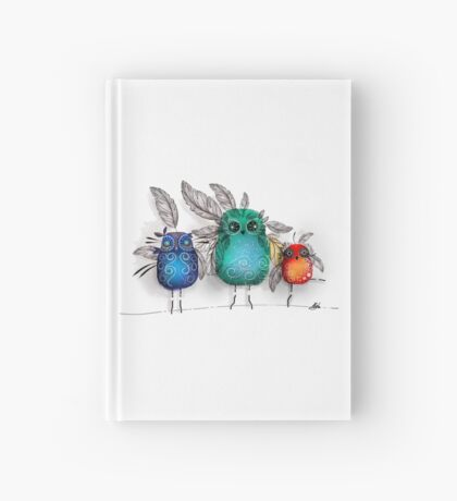owl feathers Hardcover Journal