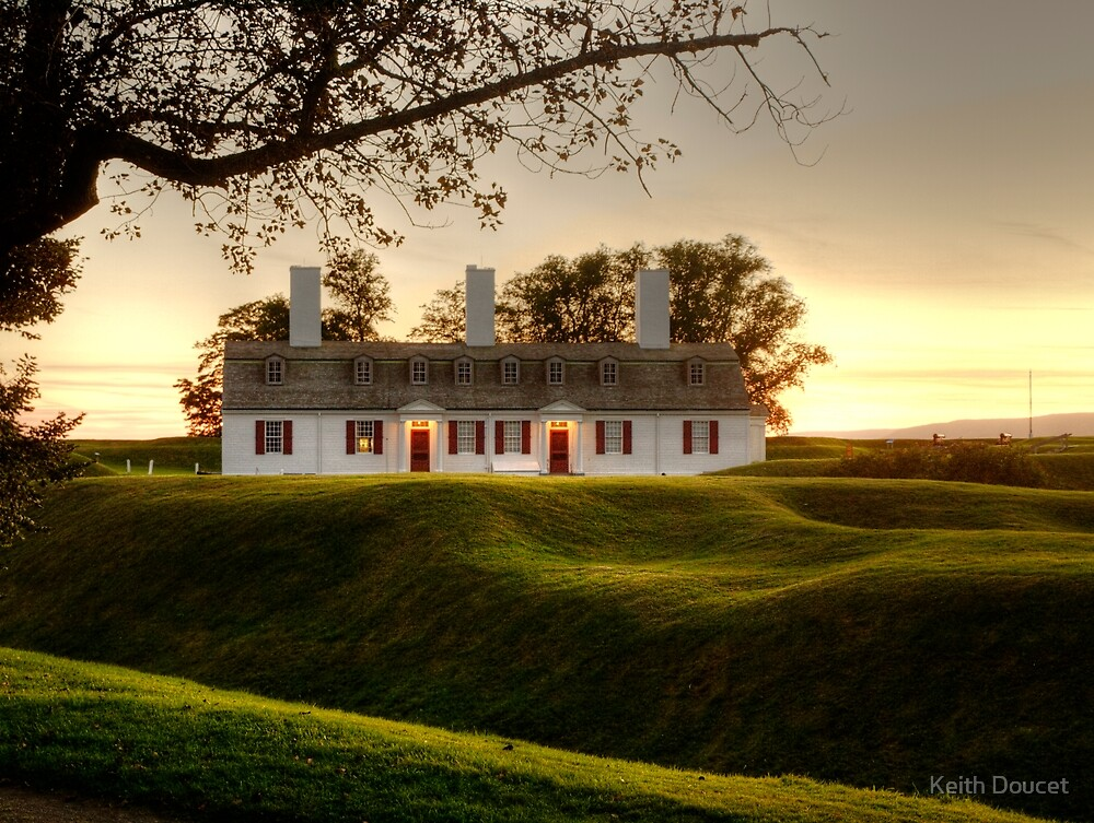 Sunset at Fort Anne by Keith Doucet