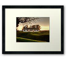Sunset at Fort Anne Framed Print