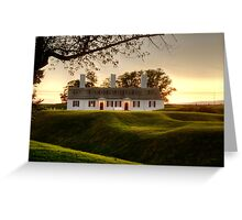 Sunset at Fort Anne Greeting Card