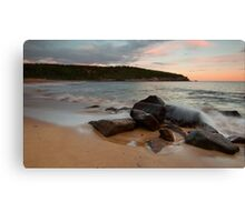 Pastel Sunset - Sand Beach Canvas Print
