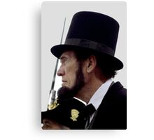 Profile Of Abraham Lincoln Canvas Print