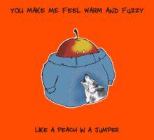 Warm and Fuzzy Peach Kids Tee