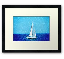 Sailboat at sea Framed Print