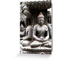 Buddhas at Swayambhunath Greeting Card