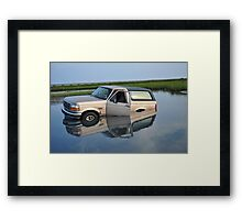 Incident while giving my new Camera a Test drive. Framed Print