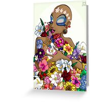 Queen of Flowers Greeting Card