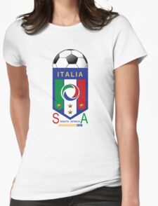 italy world cup soccer 2010 Womens Fitted T-Shirt
