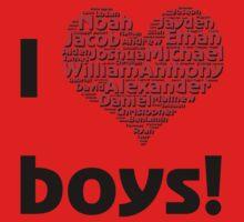 I love boys (T-Shirt & iPhone case) Kids Clothes