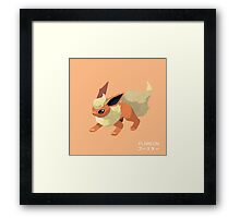 Flareon Low Poly Framed Print