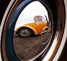 VW Hub Cap Reflection by Wishart