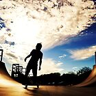 We Skate Under Blue Skies. by Andrea Morris