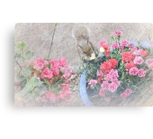 Even Squirrels Stop to Smell the Flowers #1 Canvas Print