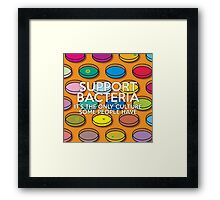 Support Bacteria Framed Print