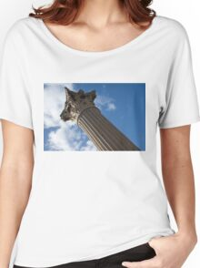 The Grandeur of Pompeii - a Corinthian Capital Column in the Sky Women's Relaxed Fit T-Shirt