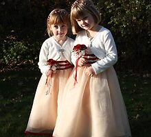 Flower Girls waiting their turn by Wishart