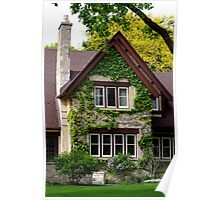Nice  Home/Mansion with Creeping Vines Poster