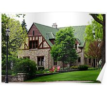 Nice Stone Home/Mansion with a nice Yard Poster