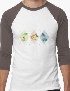 Pokemon Low Poly - 2nd Gen Starters Men's Baseball ¾ T-Shirt