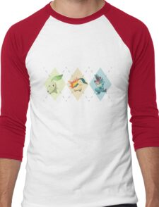 Pokemon Low Poly - 2nd Gen Starters Men's Baseball ¾ T-Shirt