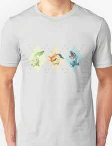 Pokemon Low Poly - 2nd Gen Starters Unisex T-Shirt
