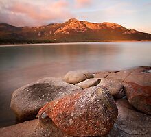 Mt Strzelecki from Trousers Point, Flinders Island by Mike Calder