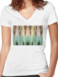 Mythical Yarn Of Three Raccoon Women's Fitted V-Neck T-Shirt