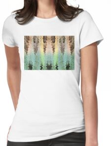 Mythical Yarn Of Three Raccoon Womens Fitted T-Shirt