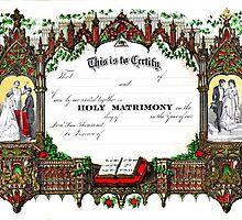 Old wedding certificate by Jeffrey  Sinnock