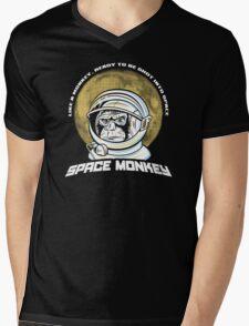 Space Monkey Mens V-Neck T-Shirt
