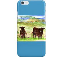 Cows in the field iPhone Case/Skin